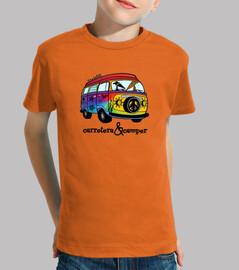 Galgos por el mundo_Carretera y camper Camiseta Niños Manga Corta