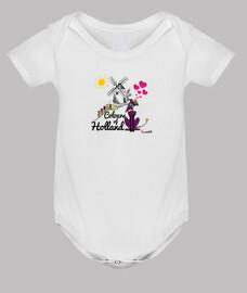 Galgos por el mundo_Holanda Body Bebé Manga Corta