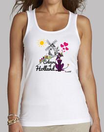 Galgos por el mundo_Holanda Camiseta Mujer Tirantes