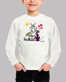 Galgos por el mundo_Holanda Camiseta Niña Manga Corta