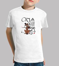Galgos por el mundo_Londres Camiseta Niño Manga Corta