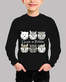 Game of Puppies - camiseta niño y niña manga corta