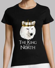 Game of Thrones - The king in the North - Mujer, manga corta, negra, calidad premium