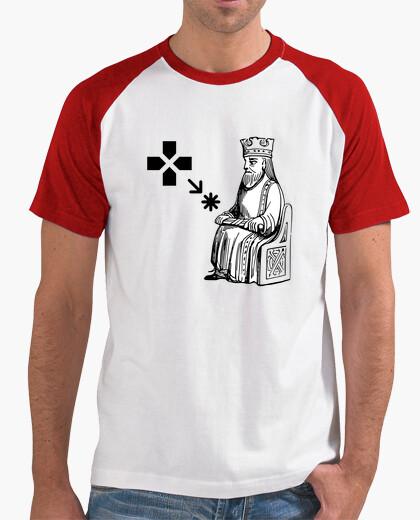 Camiseta Game of Thrones, Hoy No. Juego de Tronos. tshirtstriko, Hombre, estilo béisbol, blanca y roja