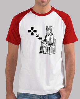 Game of Thrones, Hoy No. Juego de Tronos. tshirtstriko, Hombre, estilo béisbol, blanca y roja