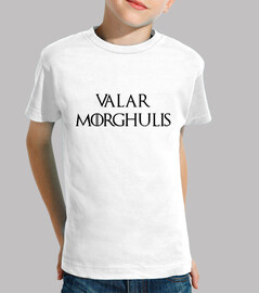 game of thrones tshirt: valar morghulis