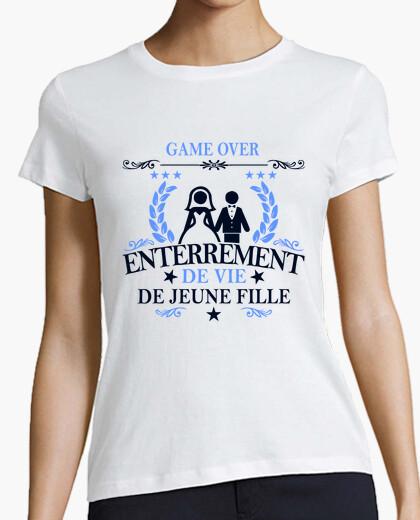 Tee-shirt game over enterrement de vie de jeune f