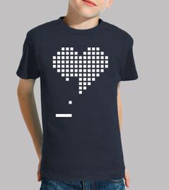 Gamer Heart 8 Bits (Camiseta Niño)