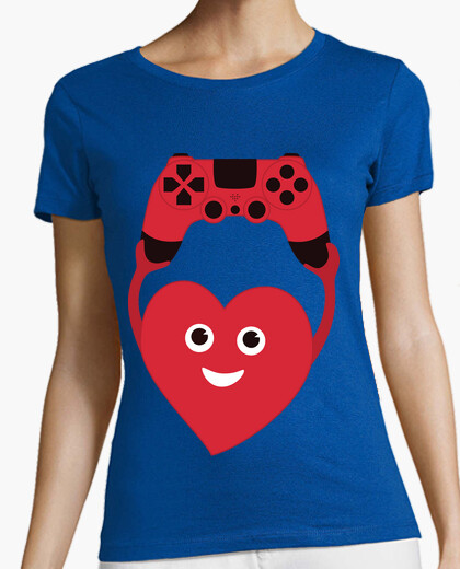 Gamer heart with gamepad t-shirt