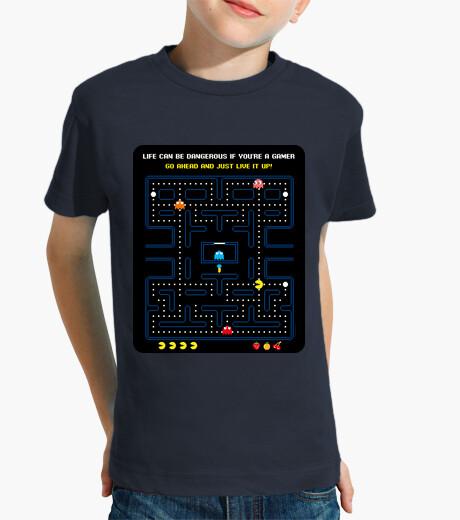 Games - pacman - pacman (black background) kids clothes