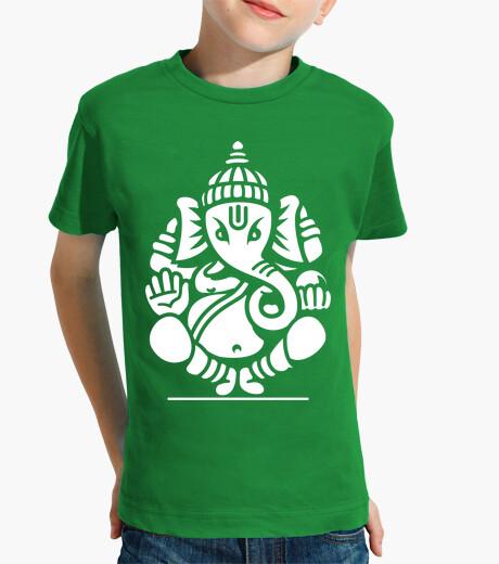 Abbigliamento bambino ganesh elefante ganesha no.4 (bianco)