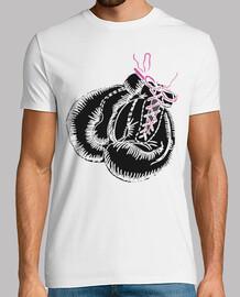 gants de boxe noirs noeud rose