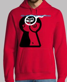 garçon, maillot rouge à capuche