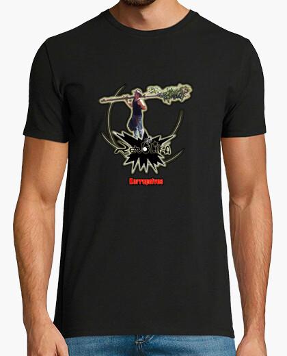 Tee-shirt garçon, manches courtes, noir, qualité extra