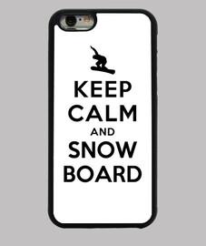 garder calme et snowboard