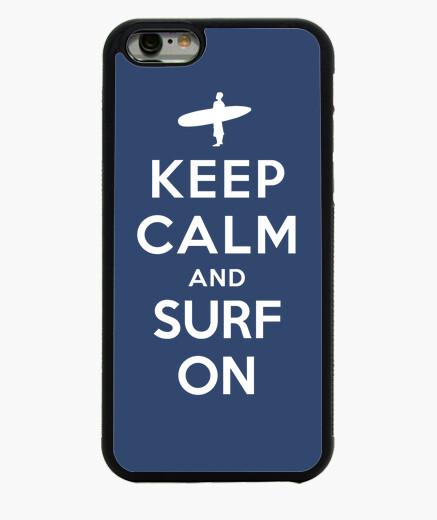 Coque Iphone 6 / 6S garder calme et surfer sur