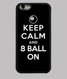 garder la balle calme et 8 sur
