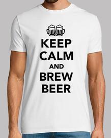 garder la bière calme et brew