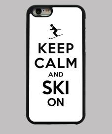 garder le calme et le ski sur