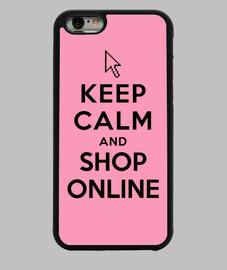 garder le calme et une boutique en ligne