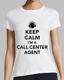garder le calme que je suis un agent de centre d'appels