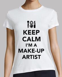 garder le calme que je suis un artiste de maquillage