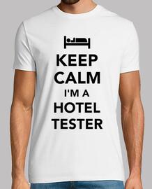 garder le calme que je suis un testeur d'hôtel
