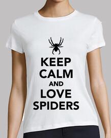 garder les araignées calme et amour