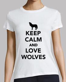 garder les loups calme et amour