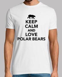 garder les ours polaires d'amour calme