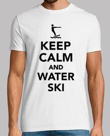 garder ski calme et de l'eau