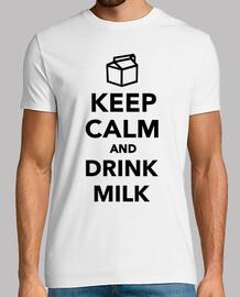 gardez le calme et boire du lait