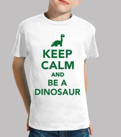 gardez le calme et être un dinosaure