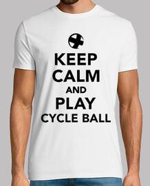 gardez le calme et jouer à la balle de cycle