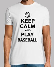 gardez le calme et jouer au baseball