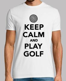 gardez le calme et jouer au golf