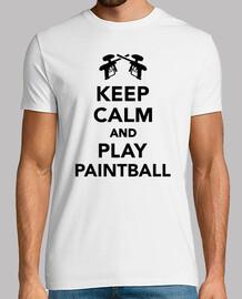 gardez le calme et jouer au paintball