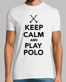 gardez le calme et jouer au polo