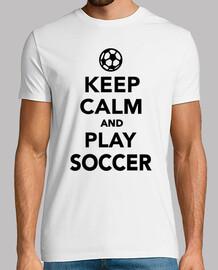 gardez le calme et jouer au soccer