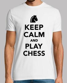 gardez le calme et jouer aux échecs