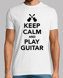 gardez le calme et jouer de la guitare