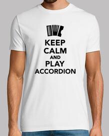 gardez le calme et jouer de l'accordéon