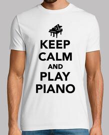 gardez le calme et jouer du piano