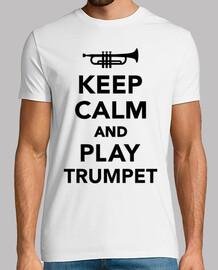 gardez le calme et jouer trompette