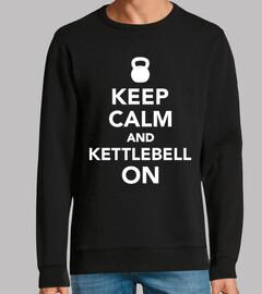 gardez le calme et kettlebell sur