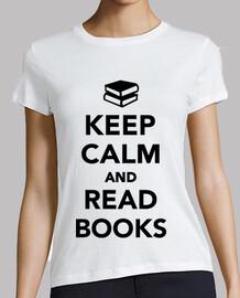 gardez le calme et lire des livres