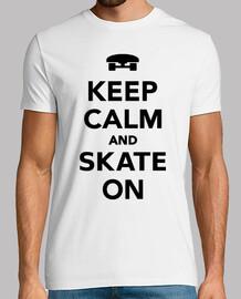 gardez le calme et patiner sur planche à roulettes