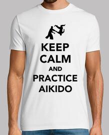 gardez le calme et pratiquer l'aïkido