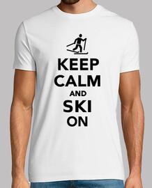 gardez le calme et skier sur