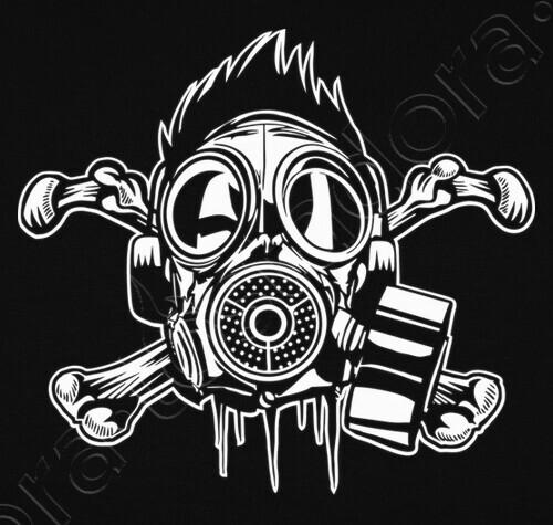 Gas Mask and Crossbones Premium Unisex Sweatshirt